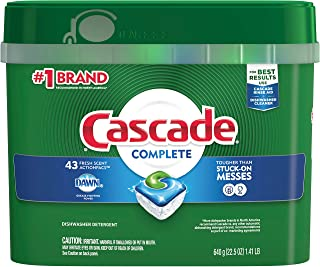 Cascade Complete ActionPacs Dishwasher Detergent, Fresh Scent, 22.5 Ounce