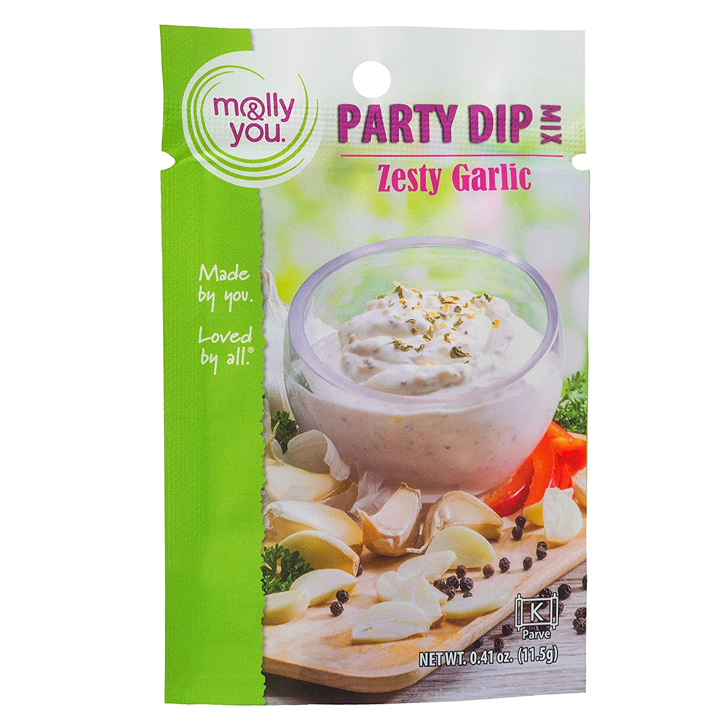 Molly Max 51% OFF and You Zesty Garlic Party Tulsa Mall Dip of Mix Go – a Pack 3