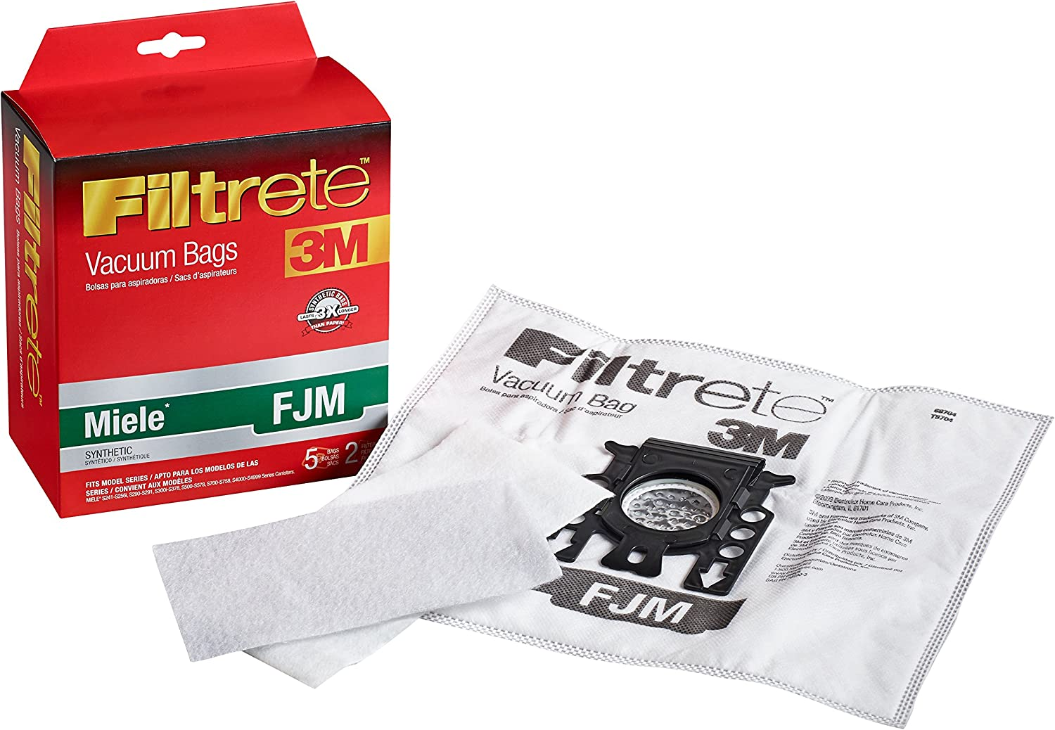 Miele FJM Cat And Dog Bags SFAAC50 SF-AAC50 S4000 S5000 S6000 S8000 HEPA Filter