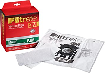5 Filters Fits Miele 10 Bags for Miele FJM Synthetic Vacuum Cleaner Dust Bag