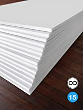 Excelsis Design, Pack of 15, Foam Boards (Acid-Free), 16x20 Inches (Many Sizes Available), 3/16 Inch Thick Mat, White with White Core (Foam Core Backing Boards, Double-Sided Sheets)