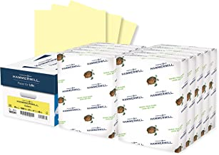 Hammermill Colored Paper, 20 lb Canary Printer Paper, 8.5 x 11-10 Ream (5,000 Sheets) - Made in the USA, Pastel Paper, 103...