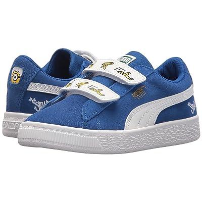 Puma Kids Minions Suede V (Little Kid) (Olympian Blue/PUMA White) Kids Shoes