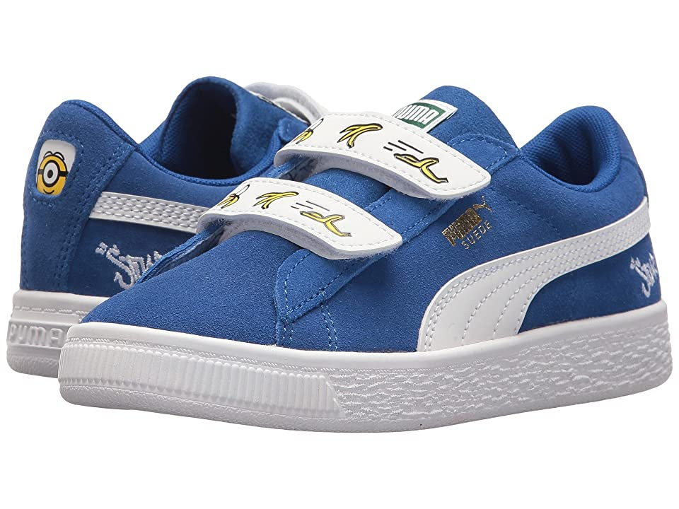 Puma Kids Minions Suede V (Little Kid) (Olympian Blue/PUMA White) Kids Shoes
