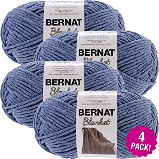 Bernat 99636 Country Blue, Blanket Big Ball Yarn, Multipack of 4, 4 Pack
