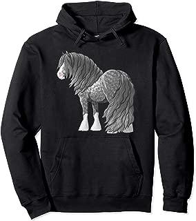 Dapple Gray Gypsy Vanner Irish Cob Draft Horse Pullover Hoodie