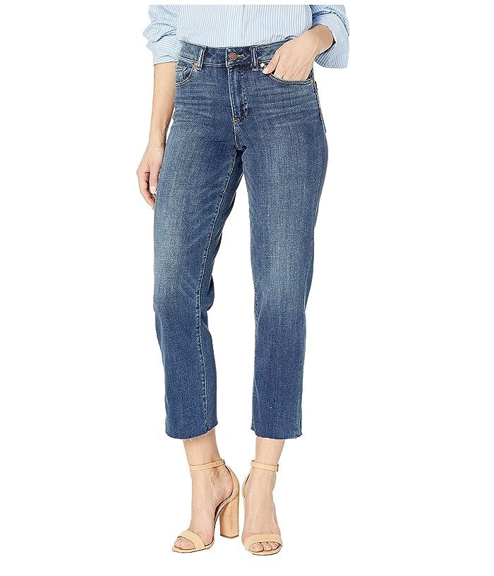 Vince Camuto  High-Rise Indigo Denim Crop Straight Leg Jeans in Mid Vintage (Mid Vintage) Womens Jeans