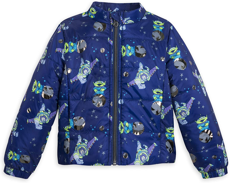 Disney Buzz Lightyear and Toy Story Alien Winter Jacket for Kids - Blue