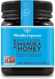 Wedderspoon Organic, Inc, 100% Raw Manuka Honey, Kfactor 12, 8.8 Oz (250 G)
