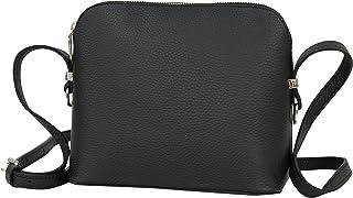 AMBRA Moda Italienische Ledertasche Damen Handtasche Umhängetasche Schultertasche Leder Tasche klein GL018