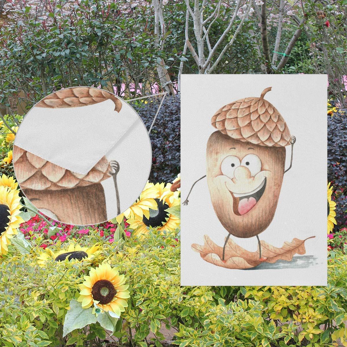 Lafle - Bandera de poliéster de Doble Cara para jardín, diseño de Bellota sobre Hoja de Roble, poliéster, Multicolor, 12 Inch x 18 Inch: Amazon.es: Jardín