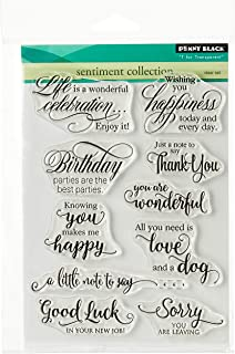 Penny Black Clear Stamps 5 x 7-inch-Sentiment Collection, Other, Multicoloured, 0.38 x 13.97 x 19.05 cm
