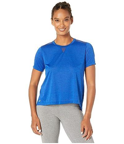 New Balance Impact Run Mesh Short Sleeve (Techtonic Blue Heather) Women