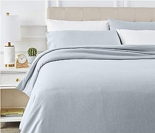 AmazonBasics - Juego de ropa de cama con funda de edredón, de microfibra, 230 x 220 cm, Vaquero(Denim Wash)