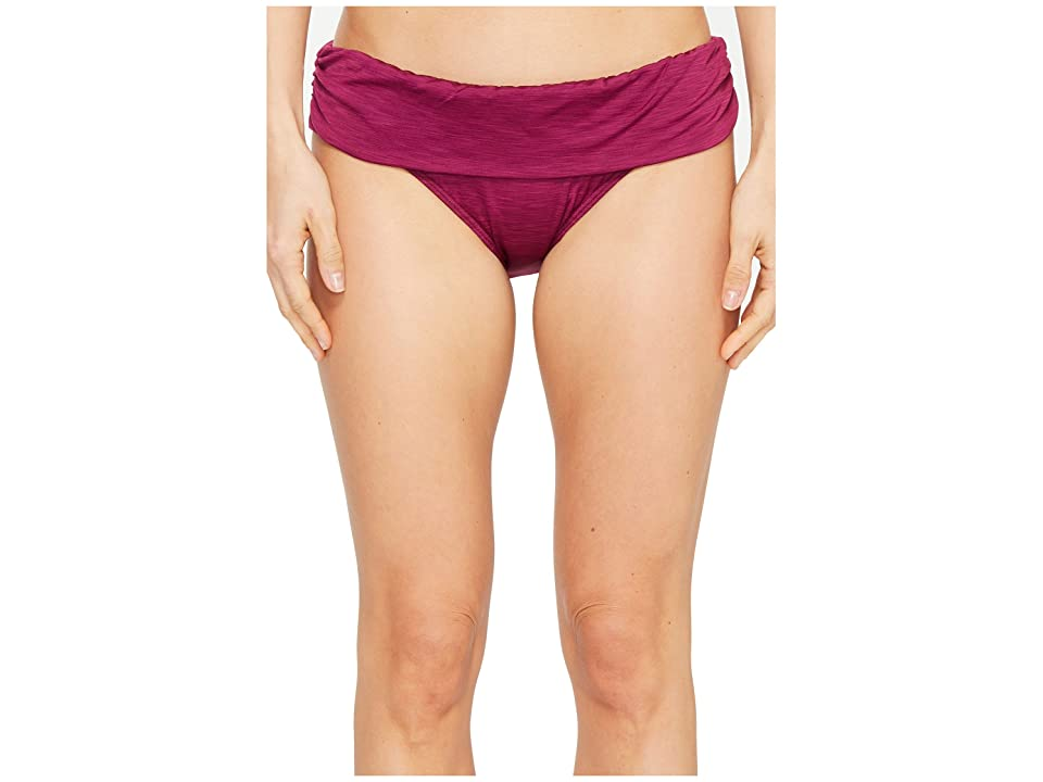 Athena Tulum Texture Lani Banded Bikini Bottom (Merlot) Women