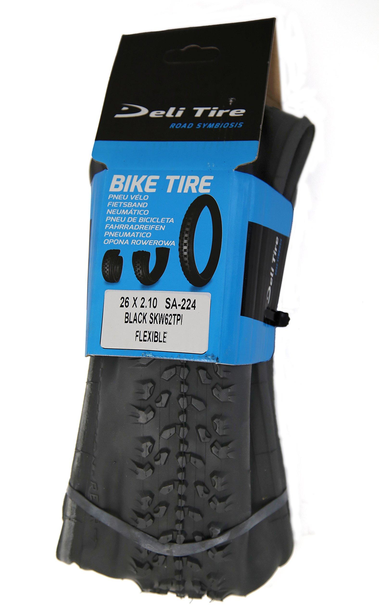 62 TPI SA-224 Mountain Bike Tire Deli Tire 26 x 2.10 Folding Tire