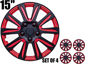 Hubcaps - RED and Black,