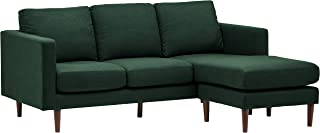 Rivet Revolve Modern Upholstered Sectional with Chaise Longue, 79.9