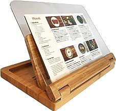 Hala Flip Cookbook Holder Bamboo Large with Acrylic Shield