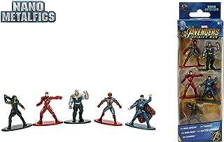 Jazwares Nano METALFIGS-Marvel Avengers Infinity War-Pack de 5 Figuras de 4 cm (Thanos, Man, Iron Spider, Dr. Strange, Gamora), 99919