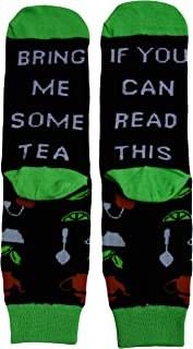 XIMIXI Fun and Novelty Crew Socks for Men, If You Can Read This Bring Me Some Tea Cotton Mid Calf Mens Socks for Winter Sp...