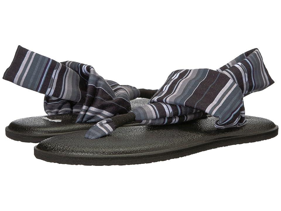 Sanuk Kids Lil Yog Sling 2 Prints (Little Kid/Big Kid) (Black Topanga Blanket) Girls Shoes