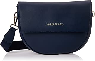 VALENTINO Womens Small Cross Body Bag with Clutch Closure, Blue