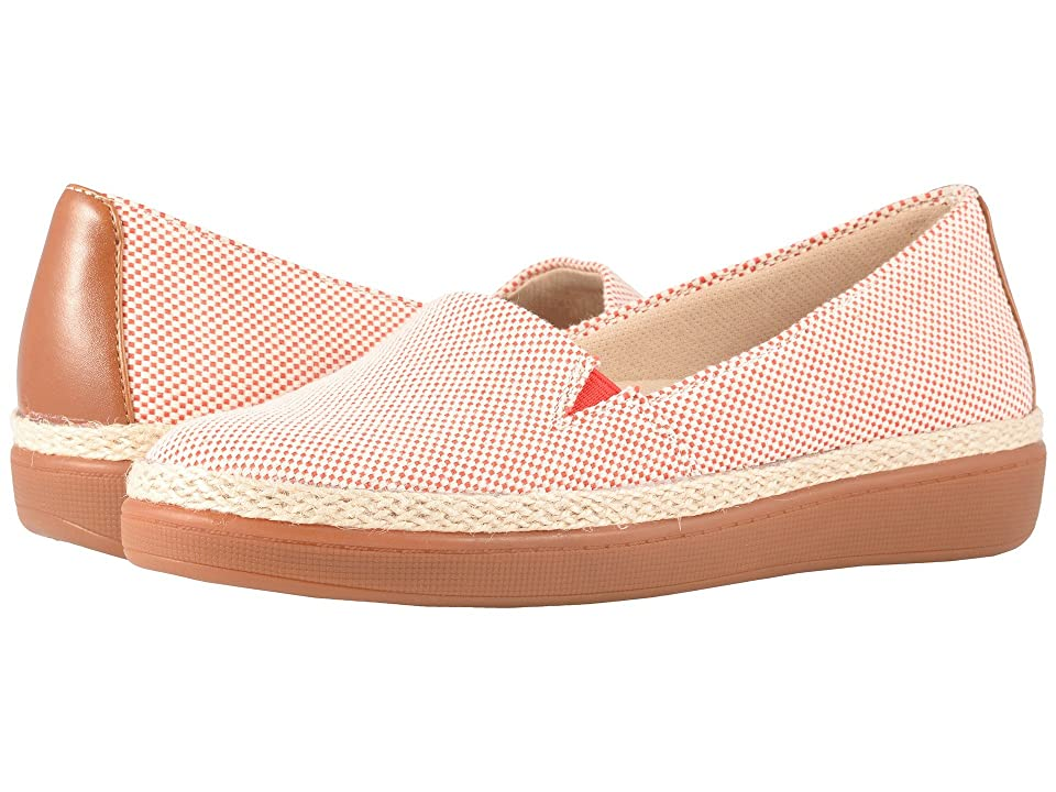 Trotters Accent (Red/Rust Linen/Smooth Man Made) Women