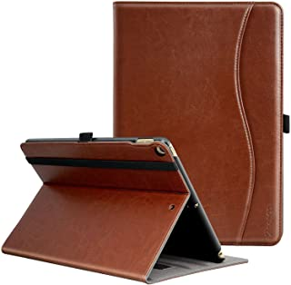 Ztotop New IPad 9.7 Inch 2018/2017 Case, Premium Leather Business Slim Folding Stand Folio Cover with Auto Wake/Sleep,Pencil Holder and Multiple Viewing Angles, Brown
