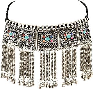 YouBella Fashion Jewellery Stylish Afghani Oxidised Necklace for Girls parrty Western Wear Necklace