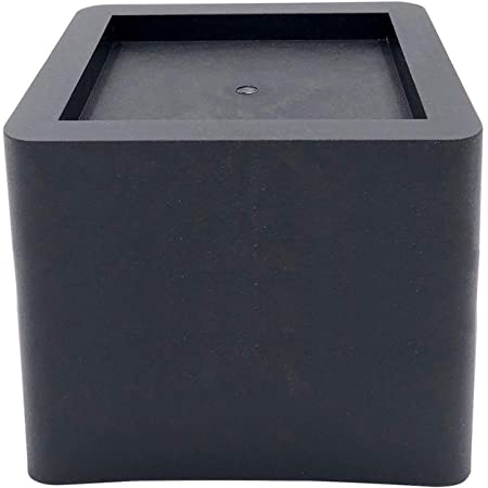 DuraCasa 5 Inch Bed Risers - Fits Huge 5.5 Inch Bed or Furniture Post, Creates an Additional 5 Inches of Height or Storage! Heavy-Duty Table, Chair, Desk or Sofa Riser (4, 5 Inch Black)