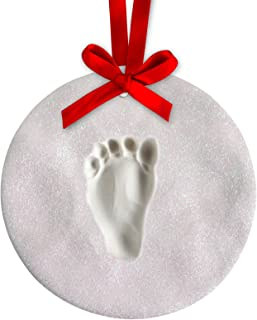 handprint glitter ornament
