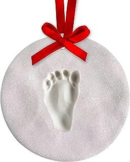 Tiny Ideas Glitter Handprint Holiday Keepsake No Bake Ornament, Creative Gift to Celebrate Baby's First Christmas