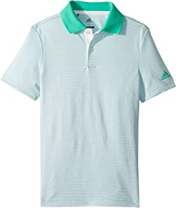 adidas Golf Kids Microstripe Polo (Big Kids)