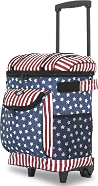 "Travelers Club 18"" Cool Carry Insulated Rolling Cooler,"