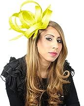 Hurricane Sinamay Ascot Fascinator Hat - with Headband