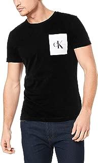 Calvin Klein Jeans Men's Monogram Pocket Slim Ss Tee, Black (Ck Black/bright White 099), Small