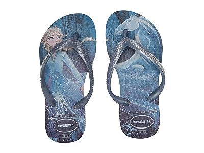 Havaianas Kids Slim Frozen Flip Flops (Toddler/Little Kid/Big Kid) (Blue Frost) Girls Shoes