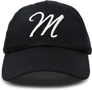 DALIX Initial Hat Letter M Womens Baseball Cap Monogram Cursive Embroider