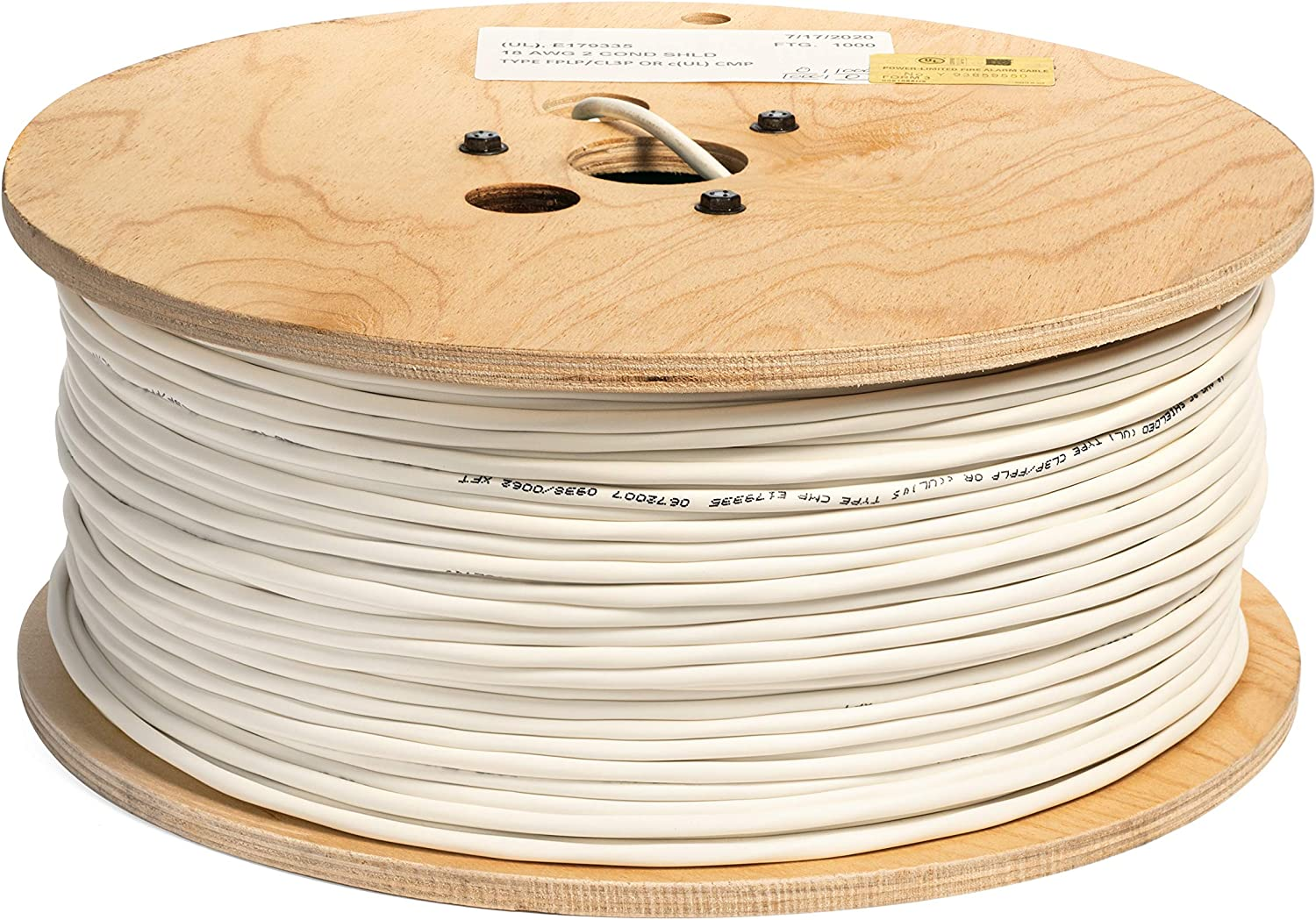 18 AWG 2 Conductor UL Approved Time Price reduction sale CMP 100% Plenum Copper Rat Type