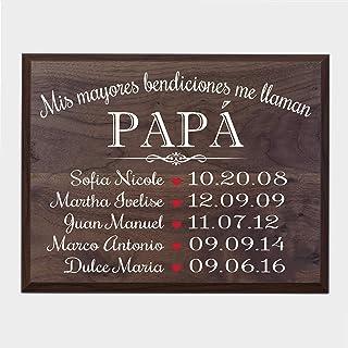 LifeSong Milestones Bendiciones familiares personalizadas Wall Plaque Regalo para Padres, Abuelos, mamá o papá