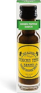 Mexican Tears - Green Pepper Sauce, scharfe Sauce aus Chili & Meersalz, perfekt als Grill-Zubehör für BBQ Sauce, Pulled Pork & zum Aufpeppen von Pizza 100ml Chilisauce