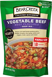 Bear Creek Soup Mix, Vegetable Beef, 9.0 Ounce (Pack of 6)