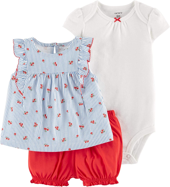 Carter's 3-Piece Little Short Set (Blue/White/Red, nb)