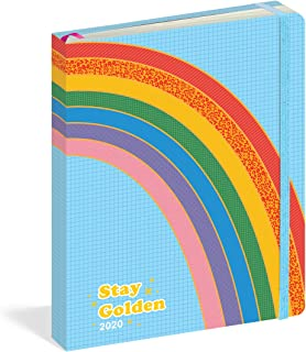 Stay Golden 17-Month Personal Planner with 500+ Stickers 2019-2020 (Pipsticks+Workman)