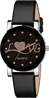 DAINTY Girl's and Women's Quartz Watch with Analogue Display and Leather Strap -HK-511