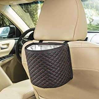 SANDY ROAD Premium Car Trash Can Car Accessories with 100% Waterproof interior and Car Trash bag with Adjustable strap, Ca...