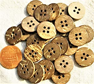 OlimP-Shop 24 Natural Coconut Shell 4-Hole Sew-Through Shirt Buttons 5/8