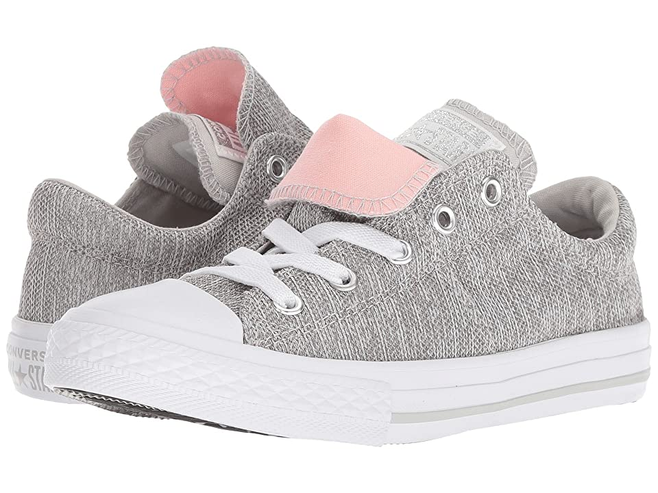 Converse Kids Chuck Taylor(r) All Star(r) Maddie Ox (Little Kid/Big Kid) (Mouse/Storm Pink/White) Girl