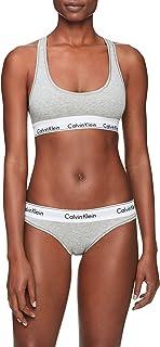 Calvin Klein Women's Modern Cotton Bralette and Bikini Set